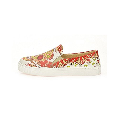 UK Upper Leather Sneakers Women VN4000 Pattern Series Wvn4045 Slip on Skull Shoes Goby qgFwCdxF