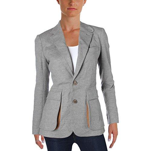 Ralph Lauren Two Button Suit (Ralph Lauren Womens Flannel 2-Button Suit Jacket Gray 4)