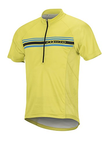 Alpinestars Men's Lunar Short Sleeve Jersey, Acid Yellow/Black, Large