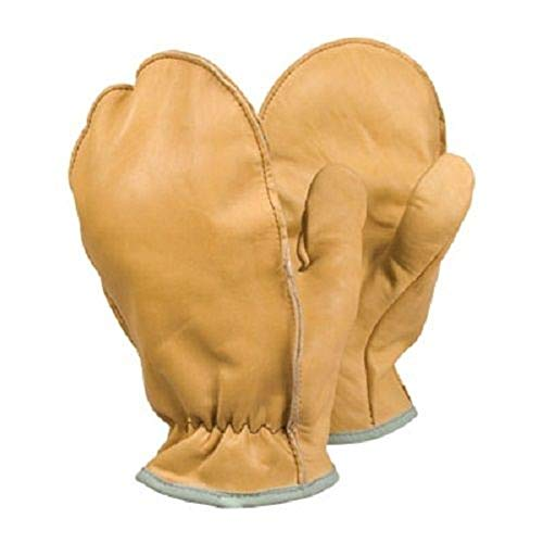 Blue_Bright Unlined Grain Leather Choppers Drivers Mitt Gloves Large Light Brown Color