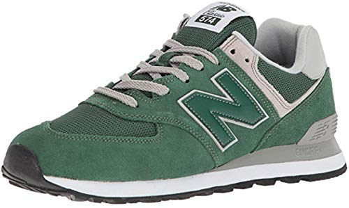 - New Balance Mens ML574 Green Suede Mesh Trainers 8 US