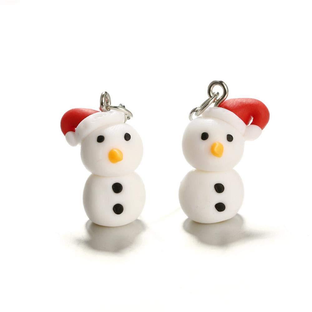 Polymer Clay Christmas Earrings.Amazon Com Jewelry Handmade Dangle Hook Christmas Earrings