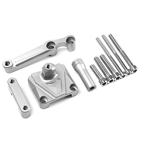 Axle Dampers Suitable for Kawasaki NINJA250 Motorcycle Direction Damper Rod Damping Bracket CNC Aluminum Alloy Ruler,Silver