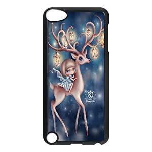 the deer Ipod Touch 5 Case, Antishock Case Case For Ipod Touch 5 Tyquin {Black}