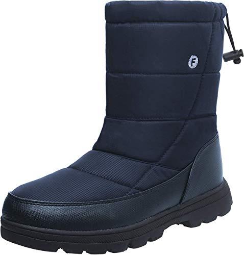 Waterproof JIASUQI Women's Flat Men's Shoes Fur Winter Navy Warm Boots Ankle Snow xYpqYBOwr
