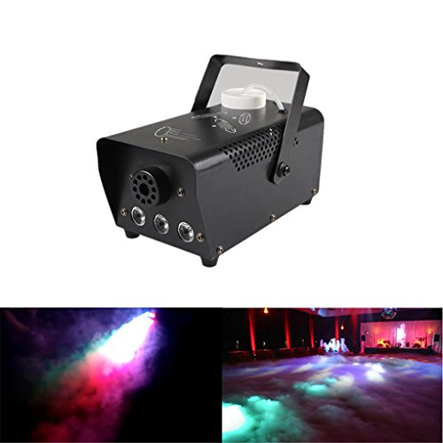 [New Mini 400W RGB LED Fog Machine with Wired Remote Control Stage Show Lights Smoke Effect Equipment] (Small Fog Machine)