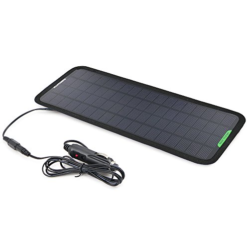 ALLPOWERS-18V-5W-Portable-Solar-Car-Battery-Charger-Bundle-with-Cigarette-Lighter-Plug-Battery-Charging-Clip-Line-Suction-Cups-Manual