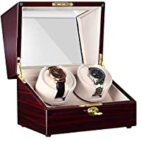 CHIYODA Automatic Double Watch Winder with Two Quiet Mabuchi