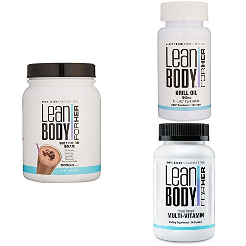 Lean Body Challenge For Her Deluxe Weight Loss Supplement Stack (Chcolate Whey Protein) by