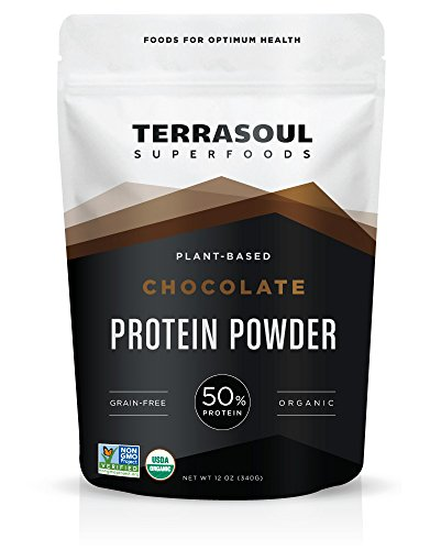 Terrasoul Superfoods Organic Chocolate Protein Powder (Probiotic, Grain-Free), 12 Ounces