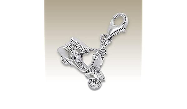 for Charms Bracelet 3D Scooter Charm with Lobster E7331 Sterling Silver 925 Necklace