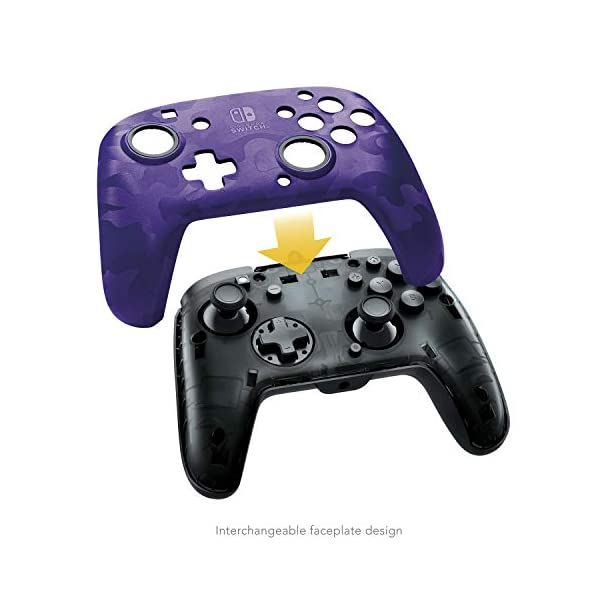 PDP 500-134-NA-CM05 Nintendo Switch Faceoff Deluxe+ Audio Wired Controller - Purple Camo 5