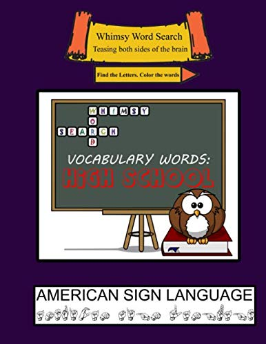 (Whimsy Word Search, Vocab High School , ASL)