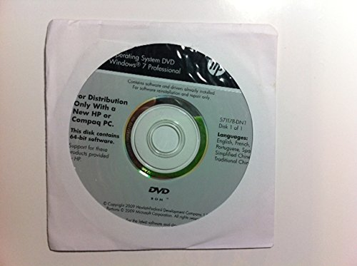 Amazon com: New sealed HP Microsoft Windows 7 Professional