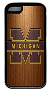 iPhone 5C Case,Wood stripe Series Customize Ultra Slim Wood Michi Soft Rubber TPU Black Case Bumper Cover for iPhone 5C