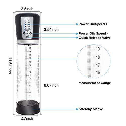 WeDol Automatic Penis Vacuum Pump with 4 Penis Rings