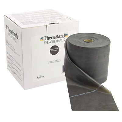 FAB101225 - Thera-Band Twin-Pak exercise band, black, 100 yard (2 50-yd boxes) by Fabrication Enterprises, Inc.