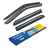 Goodyear Shatterproof Side Window Deflectors for Trucks Ford F-150 2015-2019 SuperCrew Cab, Tape-on Rain Guards, Window Visors, 4 Pieces - GY003112