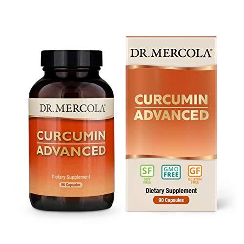 Dr. Mercola, Curcumin Advanced, 500mg, 90 Servings (90 Capsules), Non GMO, Soy-Free, Gluten-Free