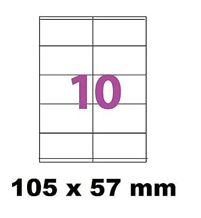 25 A4 hoja de etiqueta de 10 auto-adhesivo 105 x 57 mm ...
