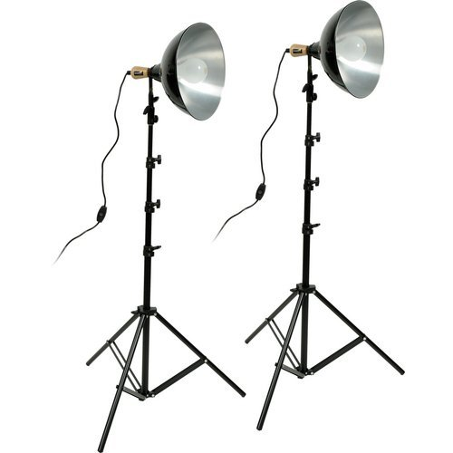 (Impact Tungsten Two-Floodlight Kit with 6' Stands (+ Bulbs))