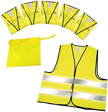 Elasto Form Warnwesten 5er Set Im Etui Nach En Iso 20471 Zertifiziert Warnweste Gelb Einheitsgröße Xxl Mit Reflektorstreifen Auto