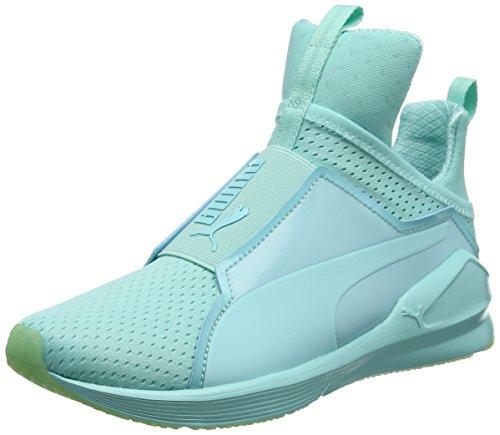 Puma Fierce Bright Mesh, Zapatillas Deportivas para Interior para Mujer Azul (Aruba Blue 04)