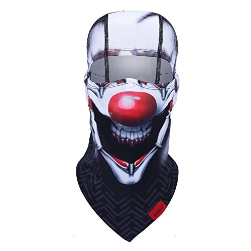 Balaclava Clown Mask - Original Hand Painted Motorcycling Cycling Full Face Head Hood ()