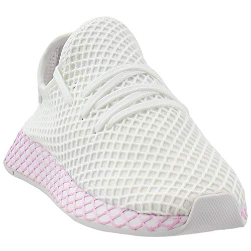 (adidas Originals Deerupt Runner Shoe Womens Casual 10 White-Clear Lilac)