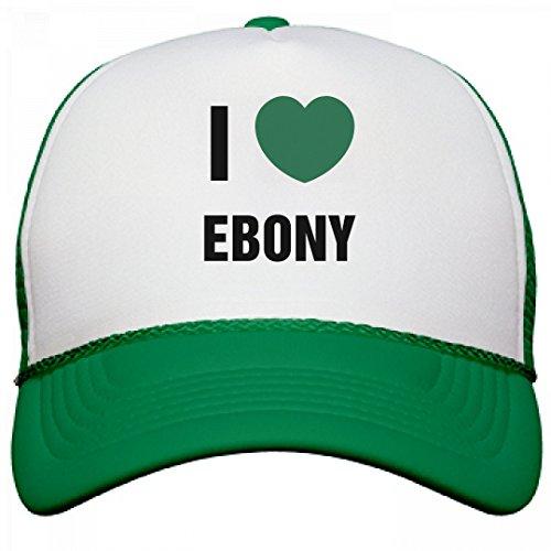FUNNYSHIRTS.ORG I Heart Ebony: Otto Poly-Foam Snapback Trucker - Ebony Tequila