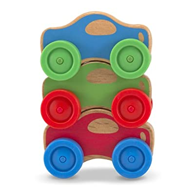 Melissa & Doug Stacking Cars Wooden Baby Toy: Melissa & Doug: Toys & Games