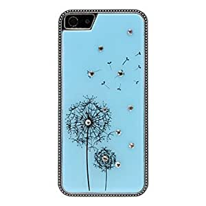 Diamond Look Dandelion Pattern Polished Hard Case for iPhone 5/5S (Optional Colors) --- COLOR:Pink