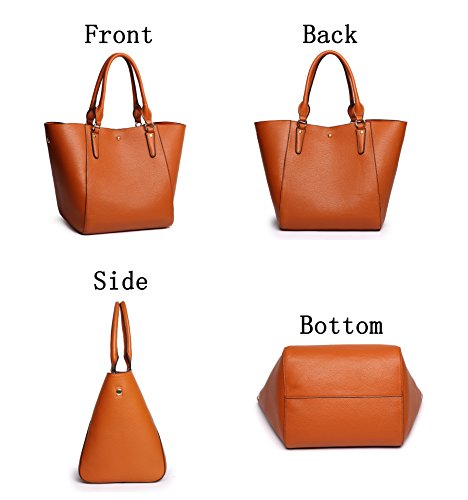 Obosoyo Women s Waterproof Handbags Ladies Synthetic Leather Tote Shoulder  Bags Fashion Travelling Mommy Soft Hot Purse bc75a7ff17c8c