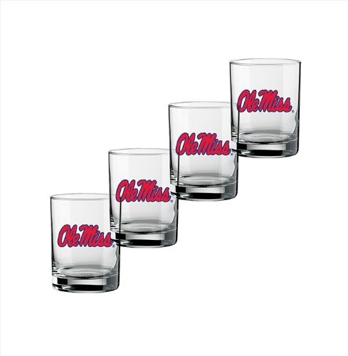 ncaa-ole-miss-rebels-set-of-4-double-fashioned-glasses-14-ounce