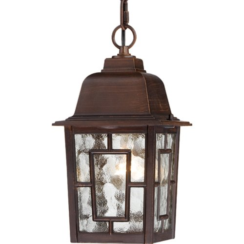 hanging porch lights. Nuvo Lighting 60/4932 Banyon One Light Hanging Lantern 100 Watt A19 Max. Clear Water Glass Rustic Bronze Outdoor Fixture Porch Lights T