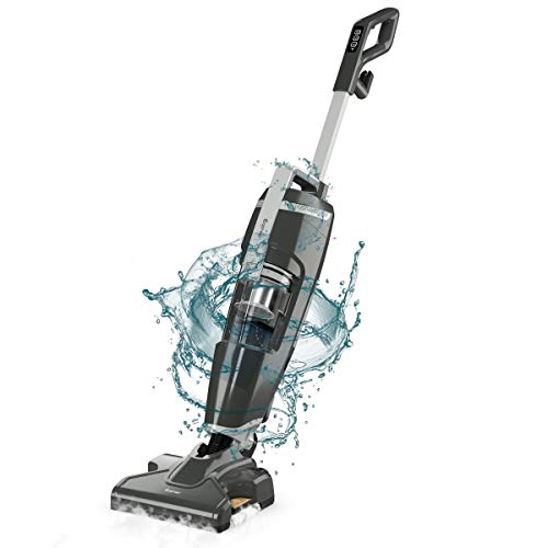 Review COSTWAY Vacuum and Steam Mop All in One, Compact Bagless 14Kpa Wet-Dry Vacuum Cleaner with HE...