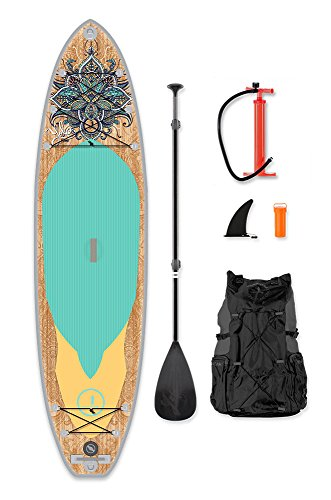 YOLO Board 11' Inflatable Stand Up Paddle Board (6'' Thick) Package | Includes Adjustable Travel Paddle, Carrying Bag, Pump by YOLO Board