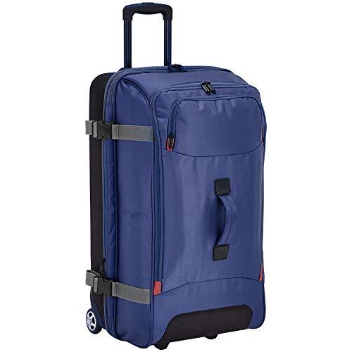 AmazonBasics Rolling Travel Duffel Bag Luggage with Wheels, Large, Blue