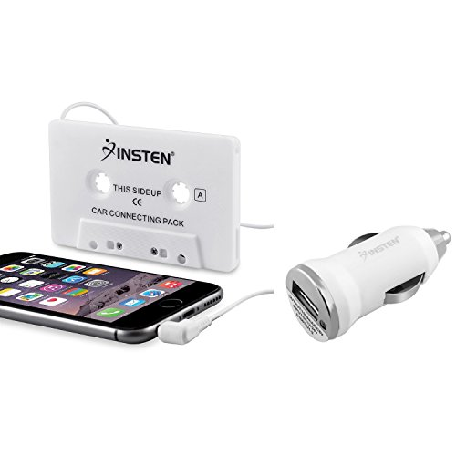 Everydaysource Car Tape Cassette Adapter + Charger Compatible with Samsung Galaxy S6/ Galaxy S6 Edge Apple iPhone 6 Plus (5.5) iPod iPhone Touch