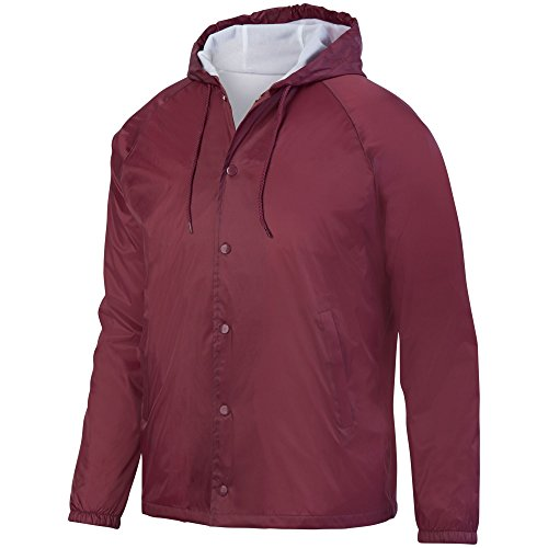Augusta Sportswear Men's Hooded Coach's Jacket M Maroon