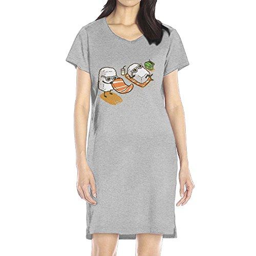 Miss Australia Costume (Hoeless Summer Sushi Women's Short Sleeve Casual T-Shirt Dress SAsh)