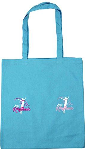 tote Hippowarehouse Bolsa Azul surf Blue 21430 turquesa De Playa Algodón Mujer qZw8qAr