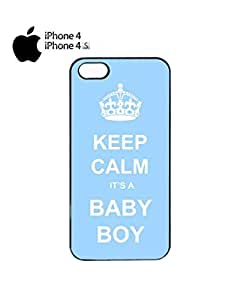 Keep Calm it is a Boy Swag Mobile Cell Phone Case Cover iPhone 4&4s White