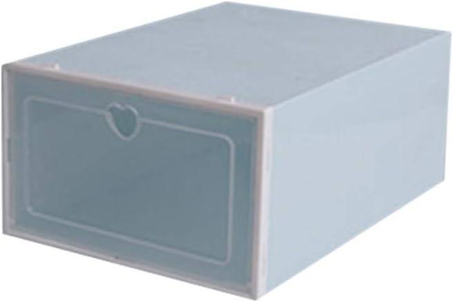 ZODOF Cajas de Zapatos de Plástico Transparente Apilable Zapatero de Almacenaje Cajón Organizador 27.5x18.5x9.5cm