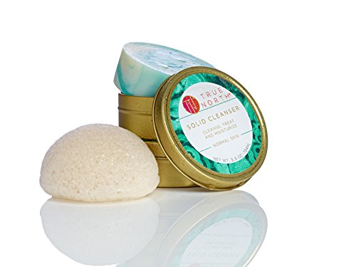 Solid Cleanser Beauty Bar with Chaga and Konjac sponge - Made with natural and organic ingredients from Maine by True North Beauty made in New England