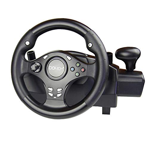 DOYO 270 Degree Rotation Pro Sport Racing Wheel for Multi Platform Compatible PS3/PS4/XBOX ONE/XBOX360/NS SWITCH/Android (Steering Set Xbox360)