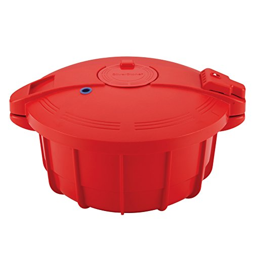 SilverStone Microwave Cookware BPA-Free Microwavable Pressure Cooker, Large, Chili Red