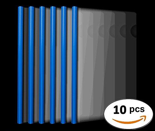 Sliding Bar Report Covers,40 sheet capacity, Transparent Resume Presentation File Folders Organizer Binder For A4 Size Paper, 10 Pcs (Size A4 Sheet Paper)
