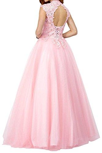 Marie La Spitze Prinzess A Damen Abendkleider Braut Brautmutterkleider Blau Rock Linie Abschlussballkleider Langes SdIrdq