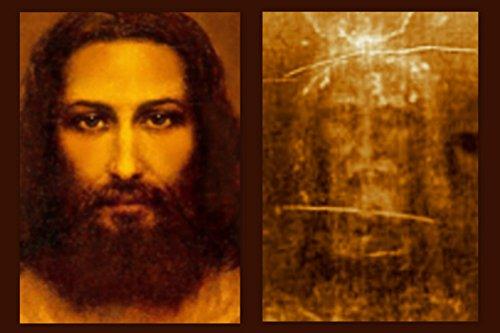 Hispanic World Jesus Face and Shroud of Turin Picture Full Image (16 x 20)